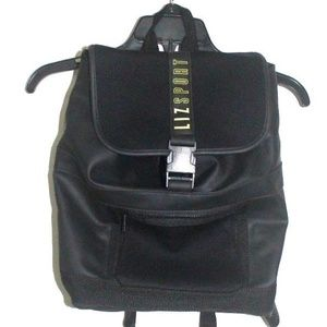 Liz Sport Black Large Backpack Faux Leather Bag
